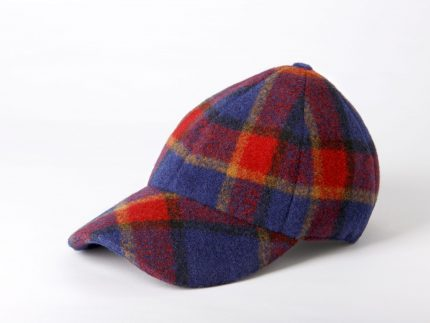 Gorra boston tartan azul lateral