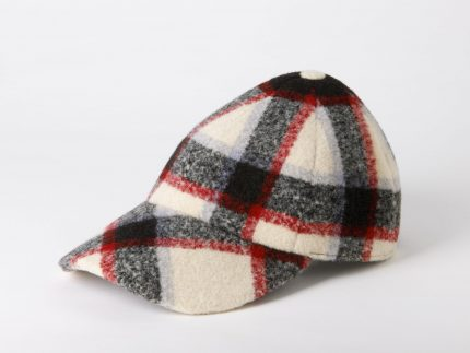 Gorra Boston tartan crudo lateral