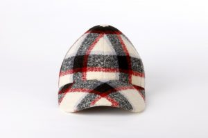 Gorra Boston tartan crudo frontal