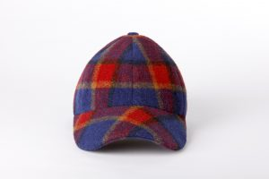 Gorra boston tartan azul frontal